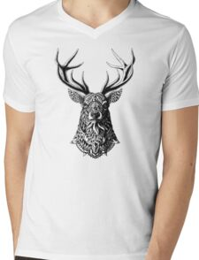 Ornate Buck Mens V-Neck T-Shirt