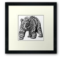 Ornate Bear Framed Print
