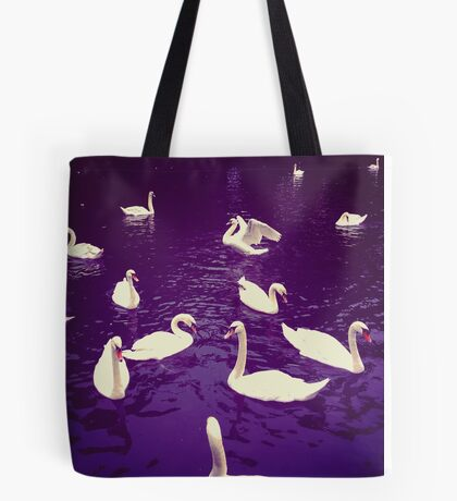 Indigo water swans Tote Bag