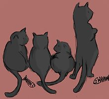 Cats by naomileijon