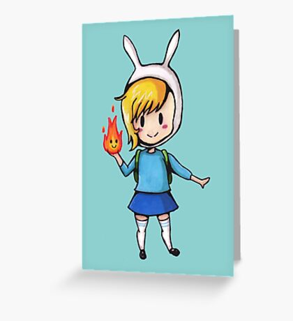 Adventure Time Fionna the human Greeting Card