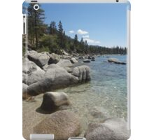 Clear Blue Waters at Lake Tahoe Cove iPad Case/Skin