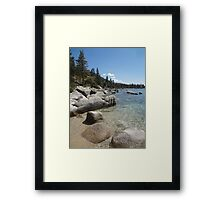 Clear Blue Waters at Lake Tahoe Cove Framed Print