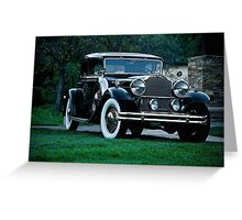 1931 Packard 845 Deluxe Eight Sports Sedan I Greeting Card