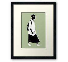 100 Days. Guy in skirt. Framed Print