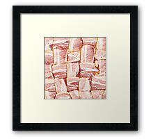 Bacon Weave Mat - Raw Framed Print