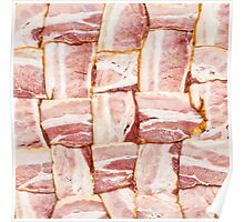Bacon Weave Mat - Raw Poster