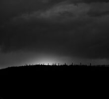 Pawnee Summer 2014 BW sunset (silhouette) by Camila Bruce Photography