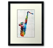Colorful Saxophone 3 by Sharon Cummings Framed Print