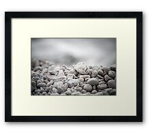 Background of the stones closeup Framed Print