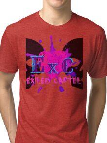 Exiled Cartel Logo - Female Version Tri-blend T-Shirt