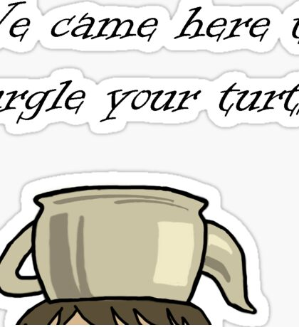 Turtle Burglar Sticker