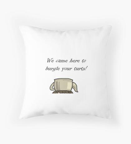 Turtle Burglar Throw Pillow