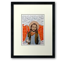 JESUS GET YOUR GUN Framed Print