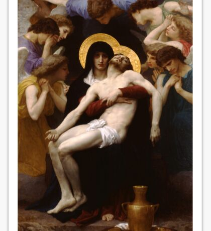 pieta ( william adolphe bouguereau ) Sticker
