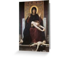 virgin mary ( william adolphe bouguereau ) Greeting Card