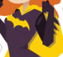Batgirl Ready for Battle Sticker