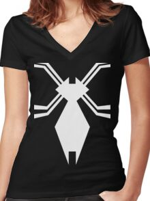 Knighted Spider Women's Fitted V-Neck T-Shirt