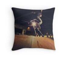 The Skate Files - #1 | Logan Square Skate Park Throw Pillow