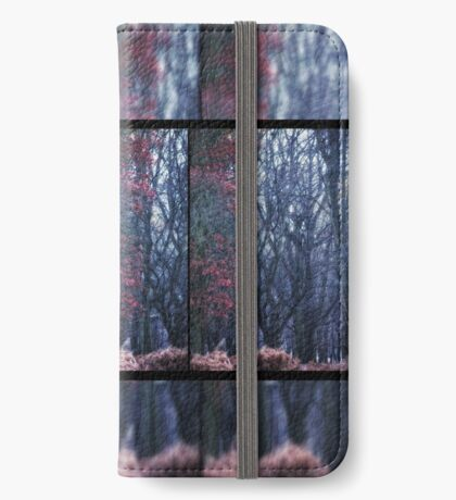 Faerie Trees ~ Fairy Trees With Inner & Outer Border  iPhone Wallet/Case/Skin