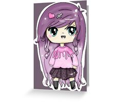 Pastel Goth Chibi Greeting Card