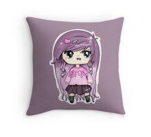 Pastel Goth Chibi Throw Pillow