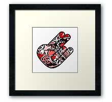 Red Hand Framed Print