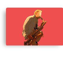 Sax player Canvas Print
