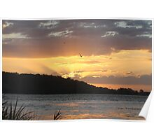 Another beautiful Clarence River sunset Poster