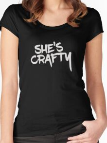 She's Crafty Women's Fitted Scoop T-Shirt