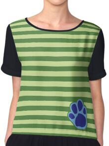 Steve Stripes w/ Paw Print Design Chiffon Top