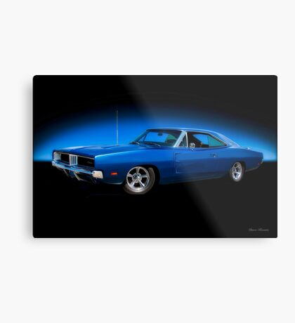 1969 Dodge Charger RT 'Road and Track' Metal Print