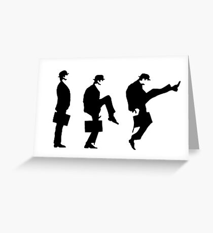 Monty Python Ministry Of Silly Walks Greeting Card
