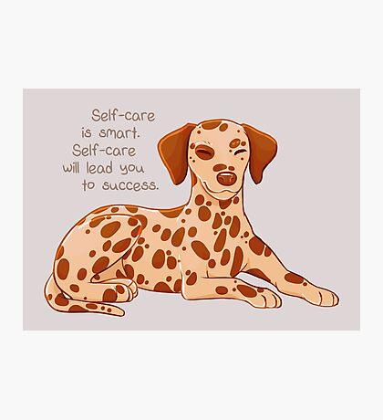 """Self-Care is Smart"" Dalmatian Pup Photographic Print"