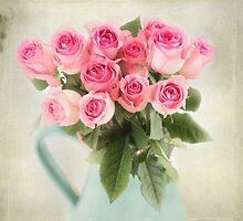 Beautiful bouquet of pink roses by carolynrauh