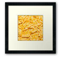Macaroni and Cheese - Blue Box Framed Print