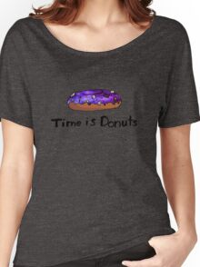 Time is Donuts  Women's Relaxed Fit T-Shirt
