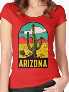 Arizona AZ State Vintage Travel Decal Women's Fitted Scoop T-Shirt