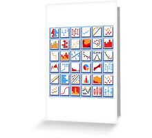 Stats Element Set in Various Colors Greeting Card