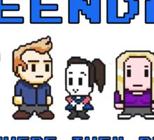 8-bit Greendale is Where They Belong (Video Game Text) Sticker