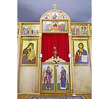 Icons on the Templon of Russian Orthodox Cathedral, Kodiak Photographic Print