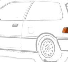 Honda Civic EF Hatchback Sketch Sticker