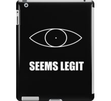 Seems legit (skyrim) iPad Case/Skin