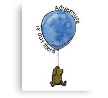 Winnie the Pooh - Adventure is Out There Canvas Print