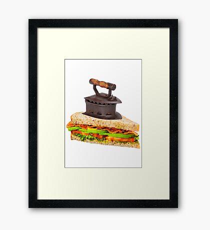Ironic Sandwich Framed Print