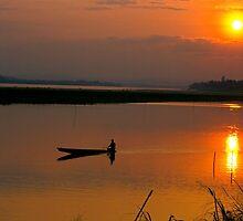 Mekong Sunset. by bulljup