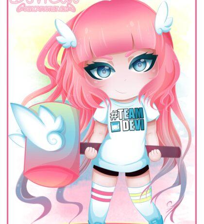 Momoko Chibi - Sporty Outfit 2016 Sticker