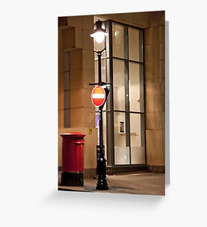 One Way Lamp Post Greeting Card