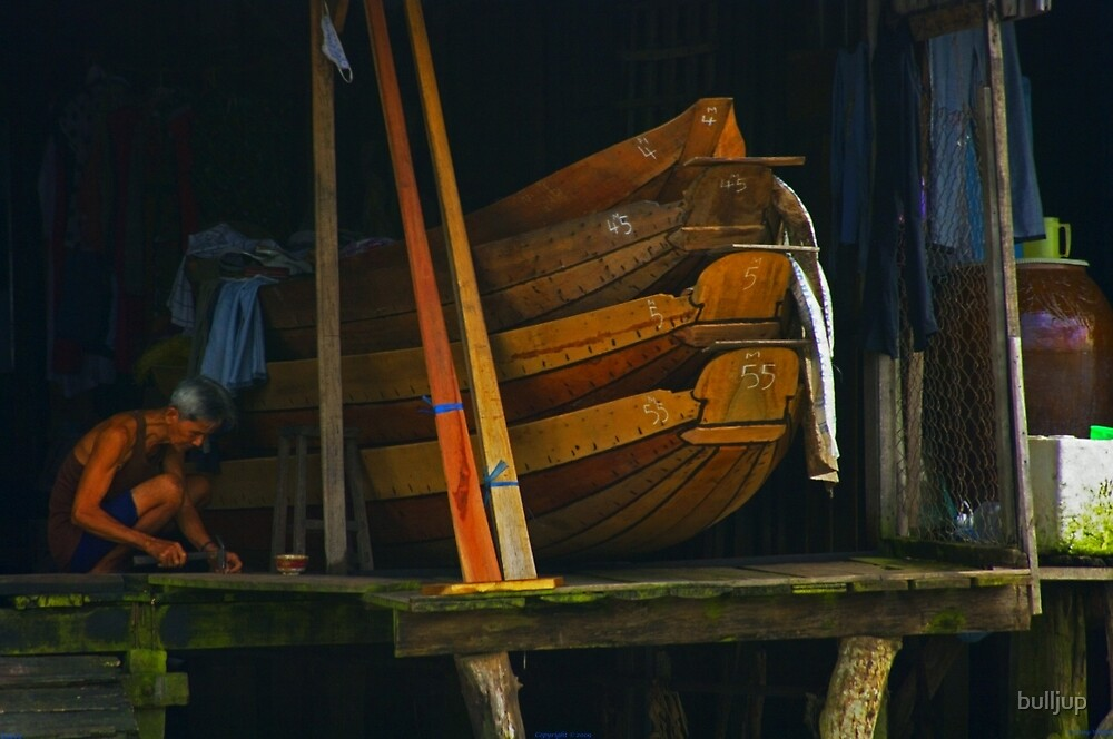Longboat builder. by bulljup