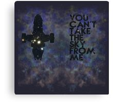 You Can't Take the Sky From Me - Oil Pastels Canvas Print